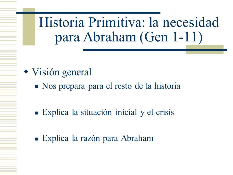 Historia Primitiva: la necesidad para Abraham (Gen 1-11)