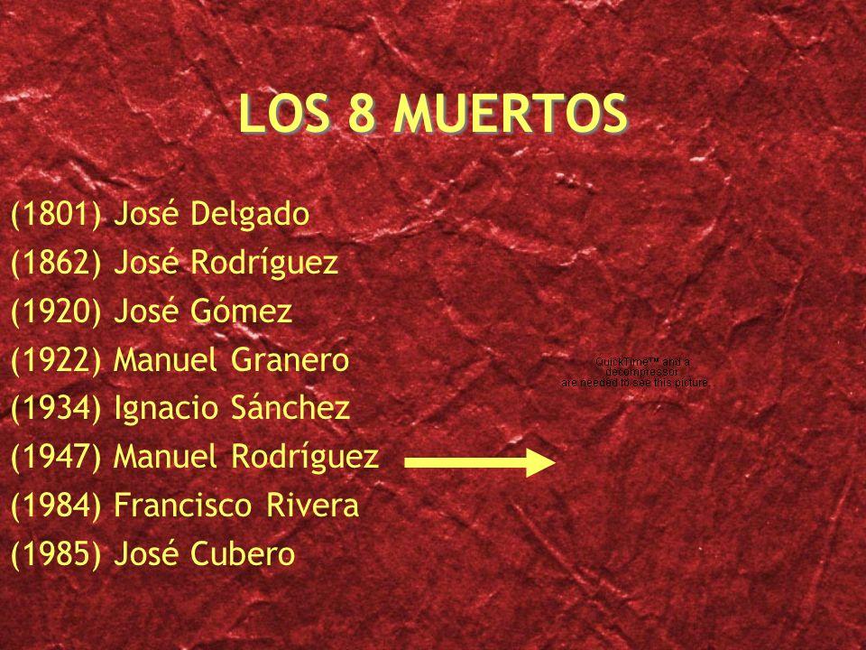 LOS 8 MUERTOS (1801) José Delgado (1862) José Rodríguez