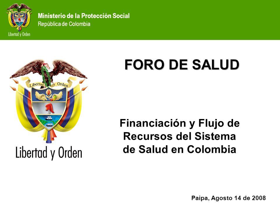 Financiación y Flujo de Recursos del Sistema de Salud en Colombia