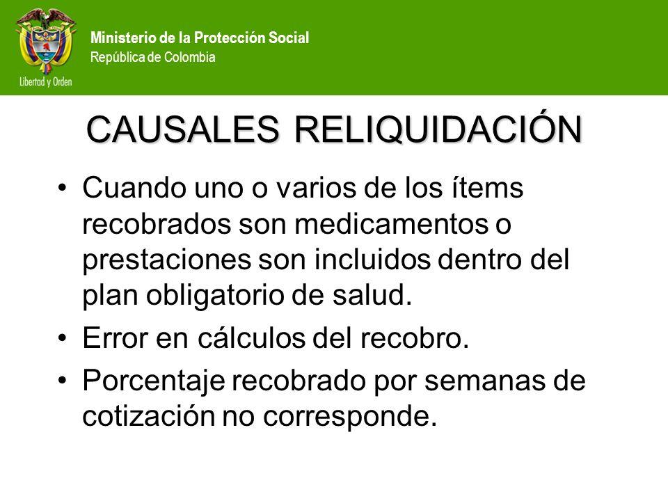 CAUSALES RELIQUIDACIÓN