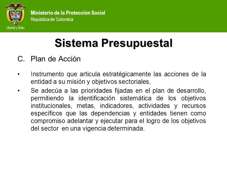 Sistema Presupuestal Plan de Acción