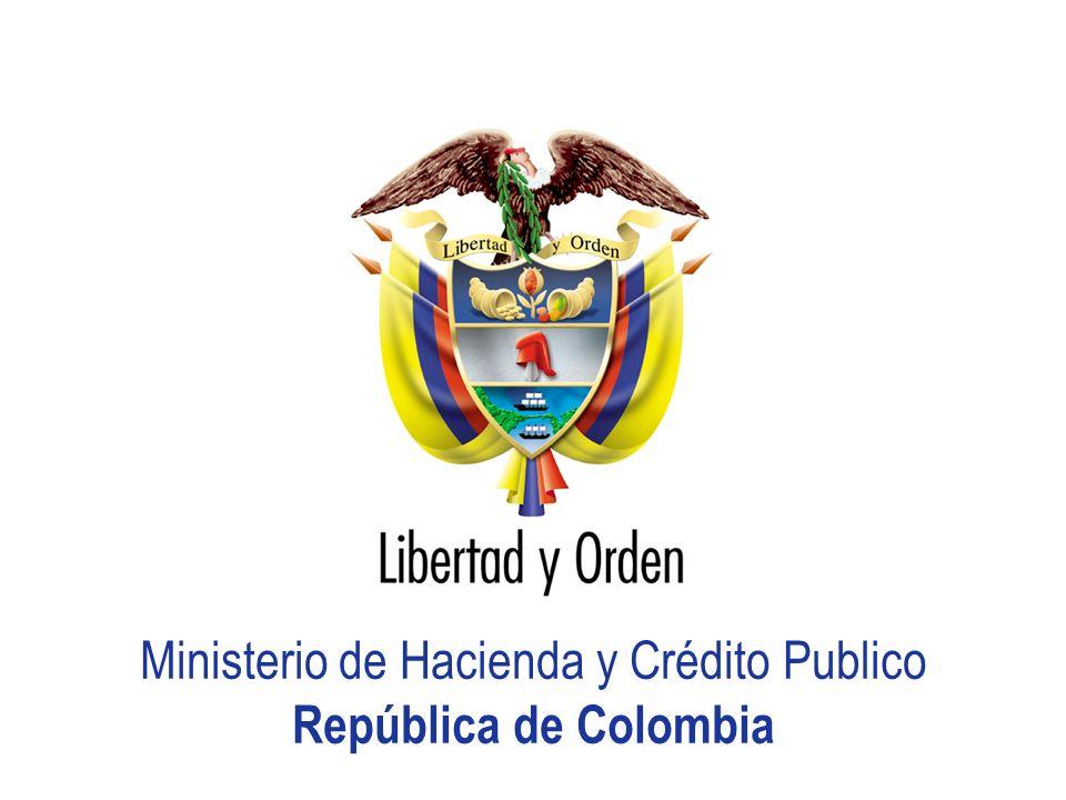 Ministerio de Hacienda y Crédito Publico República de Colombia