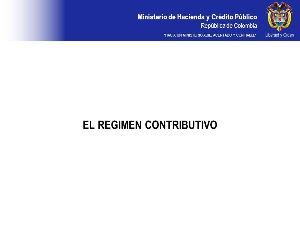 EL REGIMEN CONTRIBUTIVO