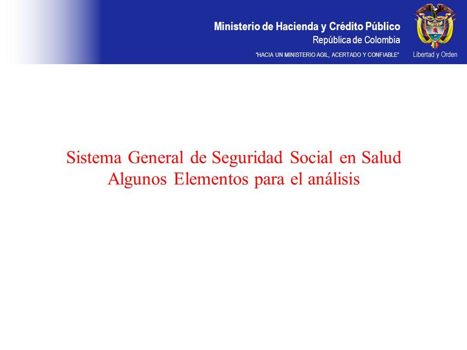 Sistema General de Seguridad Social en Salud Algunos Elementos para el análisis