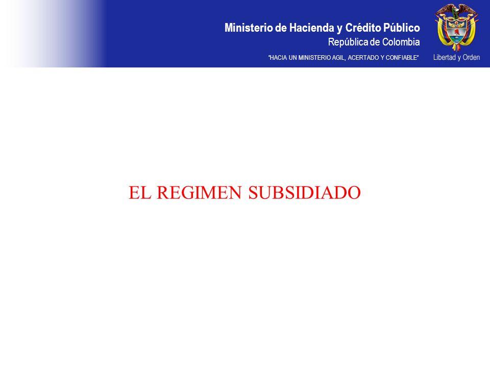 EL REGIMEN SUBSIDIADO DDDD 28
