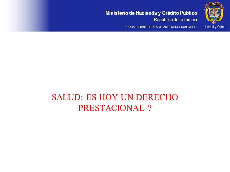 SALUD: ES HOY UN DERECHO PRESTACIONAL