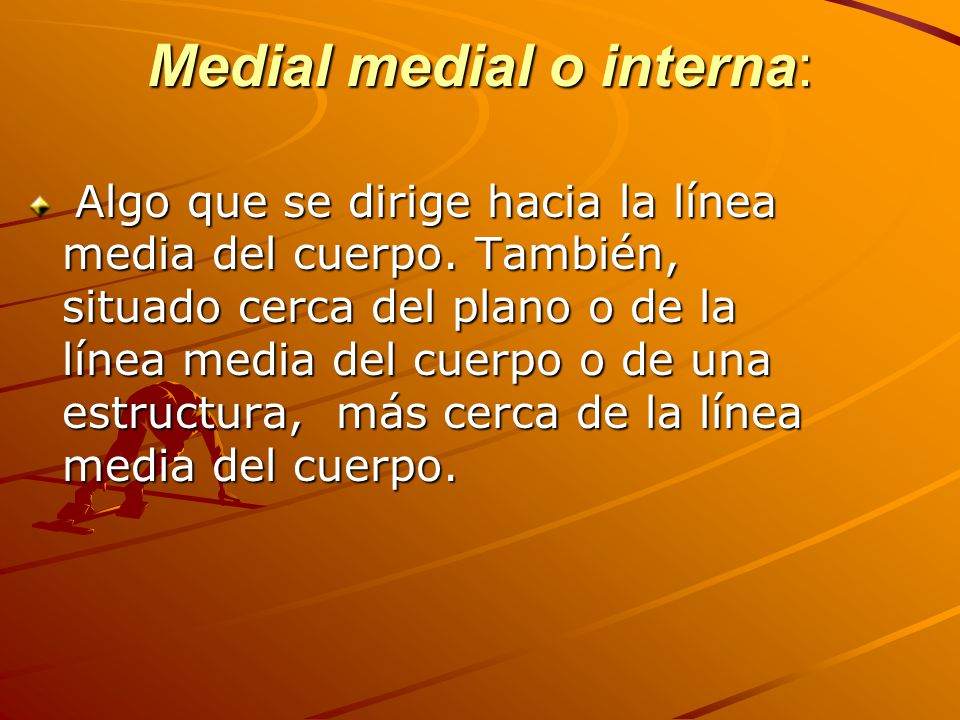 Medial medial o interna: