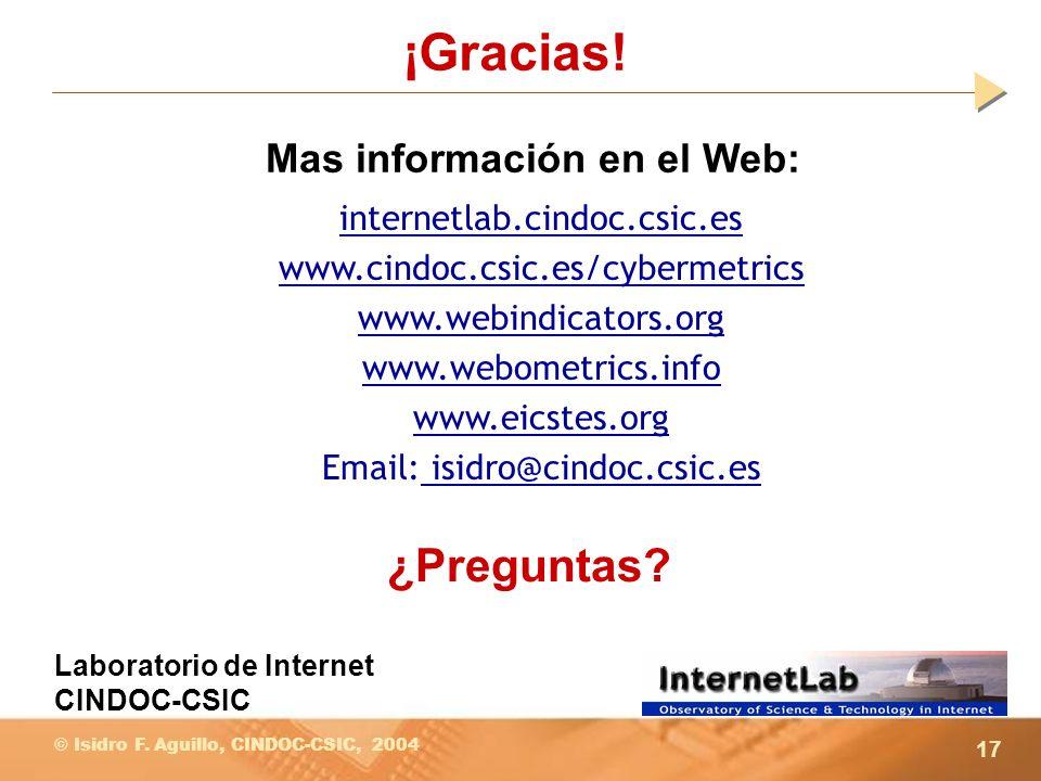 ¡Gracias! ¿Preguntas Mas información en el Web: