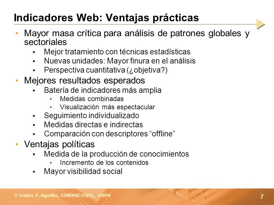 Indicadores Web: Ventajas prácticas