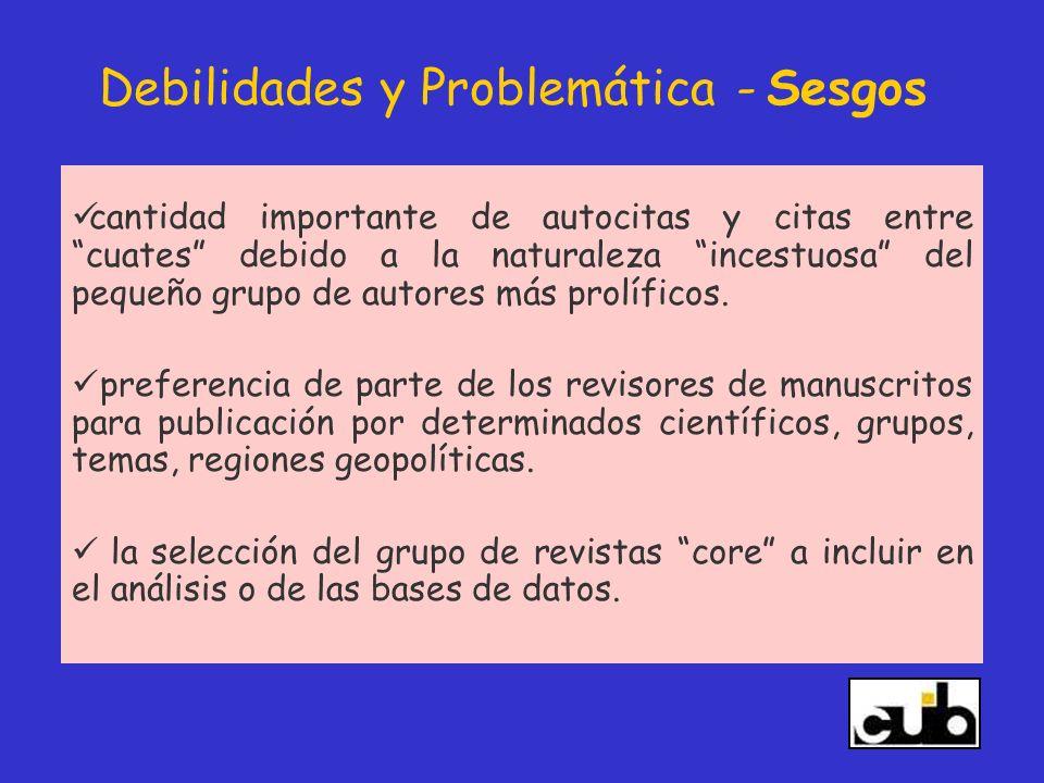 Debilidades y Problemática - Sesgos