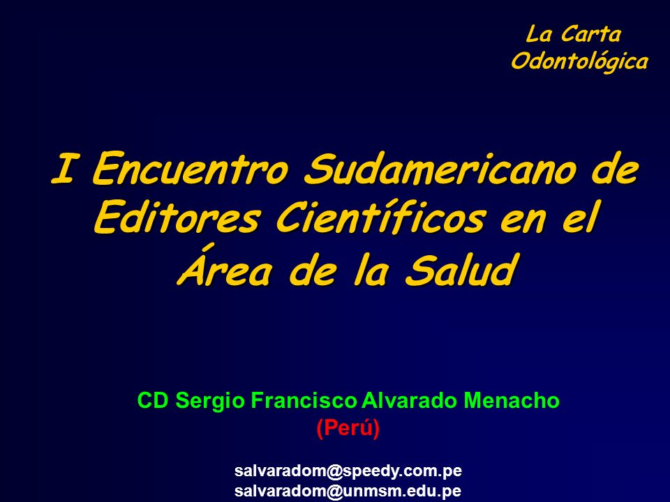 CD Sergio Francisco Alvarado Menacho