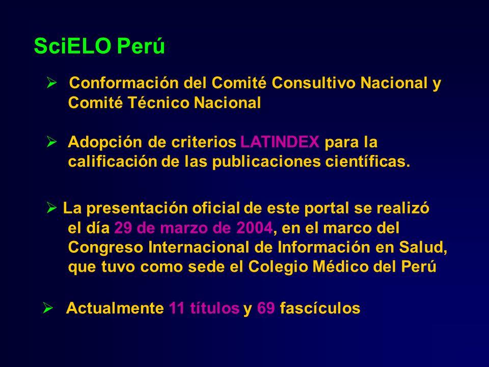 SciELO Perú Conformación del Comité Consultivo Nacional y
