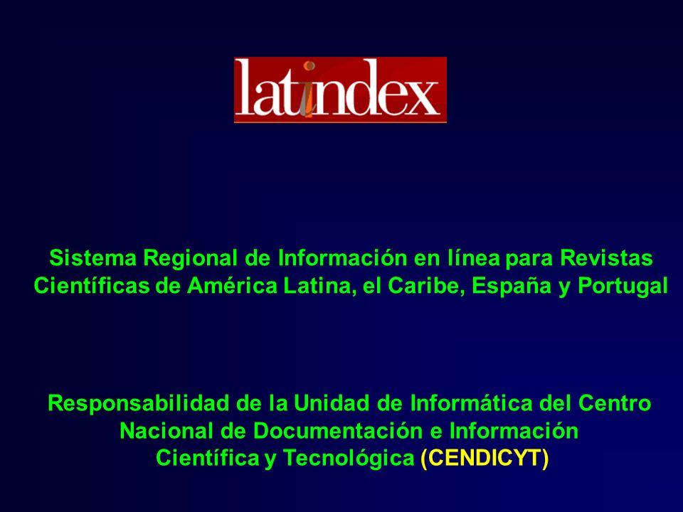 Sistema Regional de Información en línea para Revistas