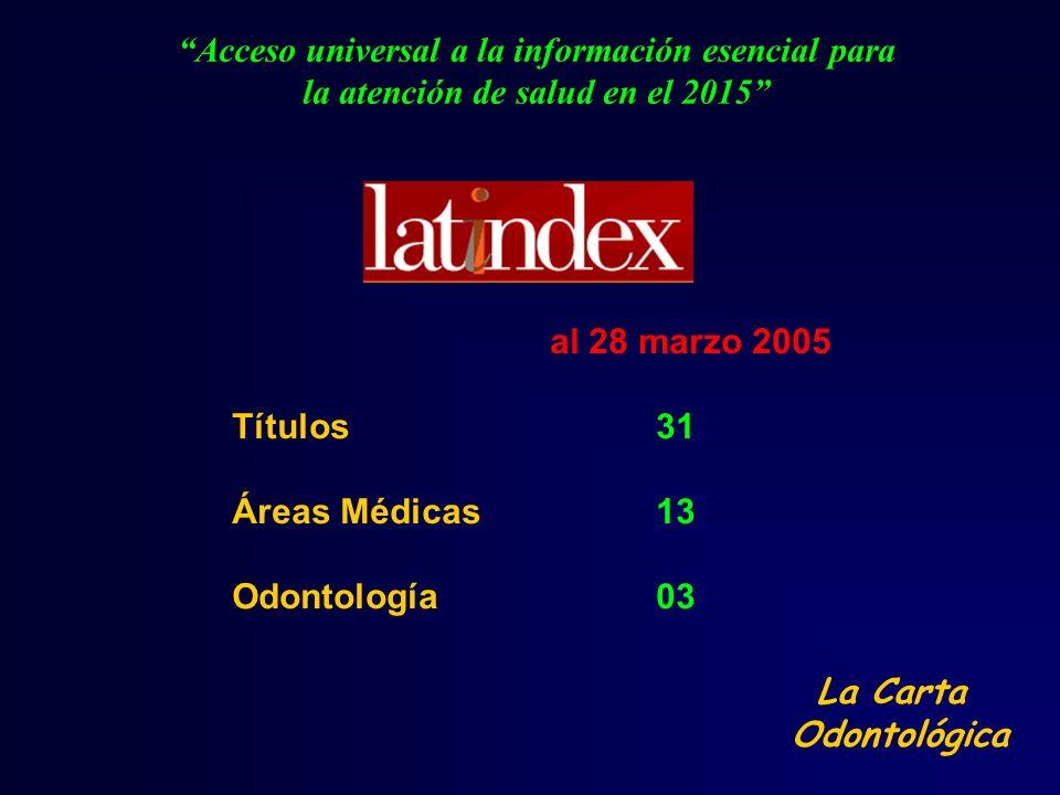 Acceso universal a la información esencial para