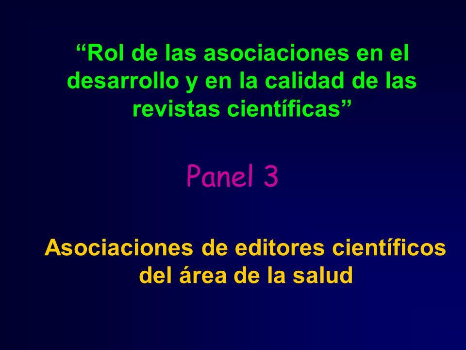 Asociaciones de editores científicos del área de la salud