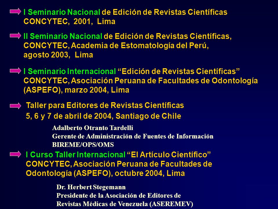 I Seminario Nacional de Edición de Revistas Científicas