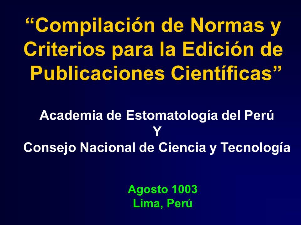 Compilación de Normas y Criterios para la Edición de
