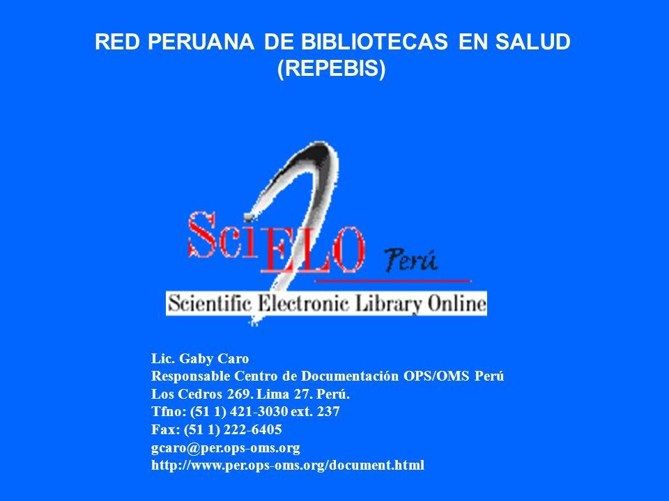 RED PERUANA DE BIBLIOTECAS EN SALUD