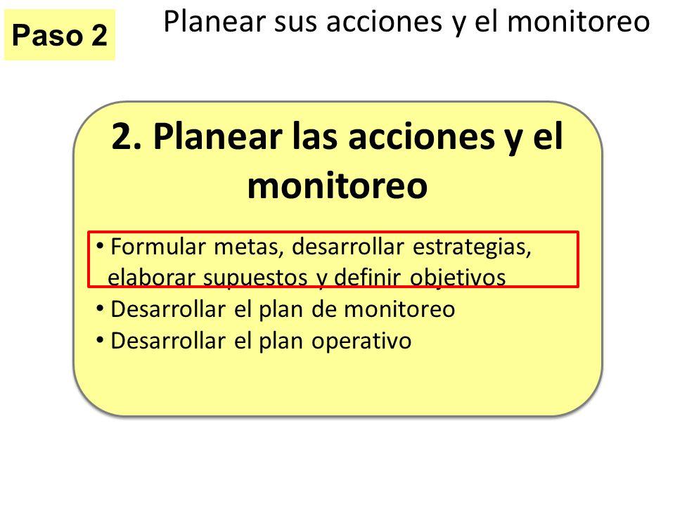 Planear sus acciones y el monitoreo