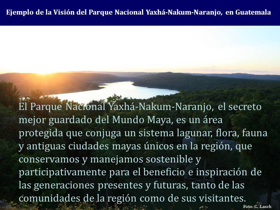 Ejemplo de la Visión del Parque Nacional Yaxhá-Nakum-Naranjo, en Guatemala
