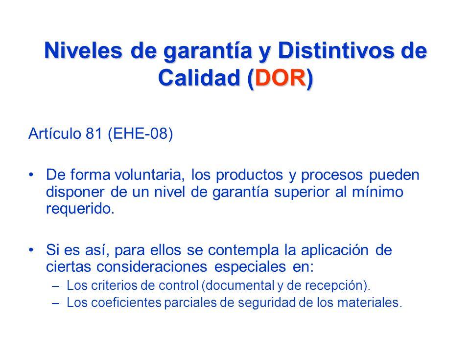 Niveles de garantía y Distintivos de Calidad (DOR)