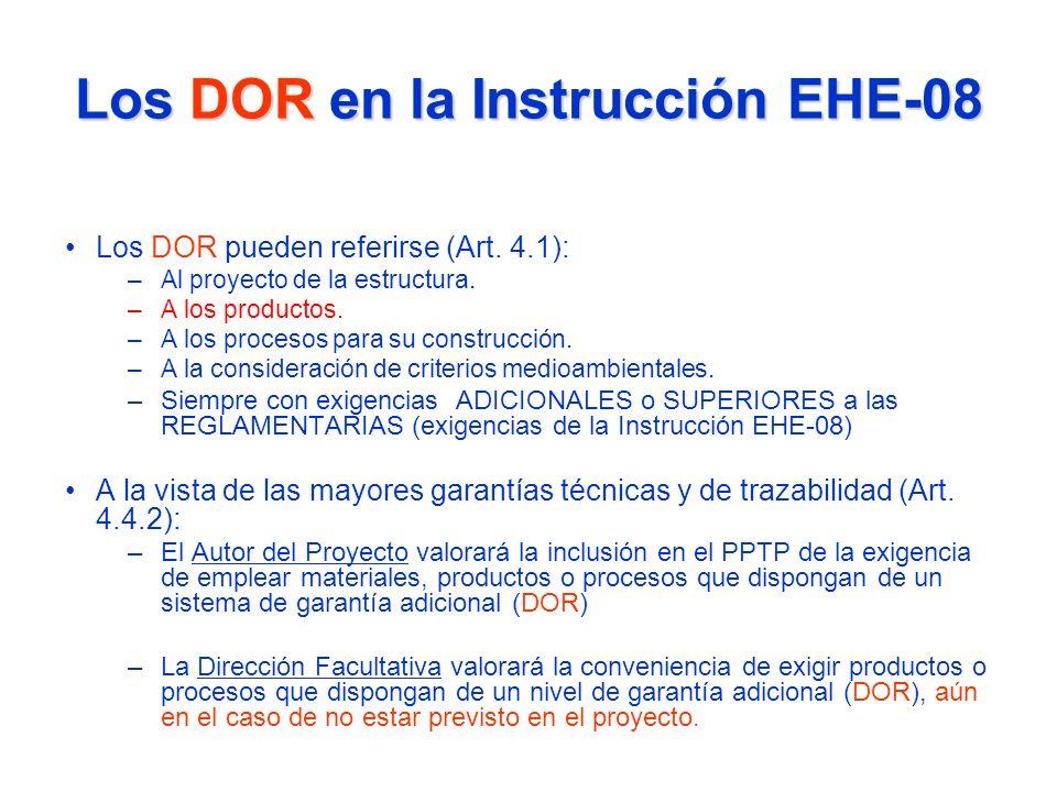 Los DOR en la Instrucción EHE-08