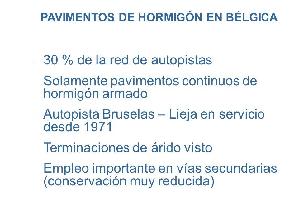 PAVIMENTOS DE HORMIGÓN EN BÉLGICA