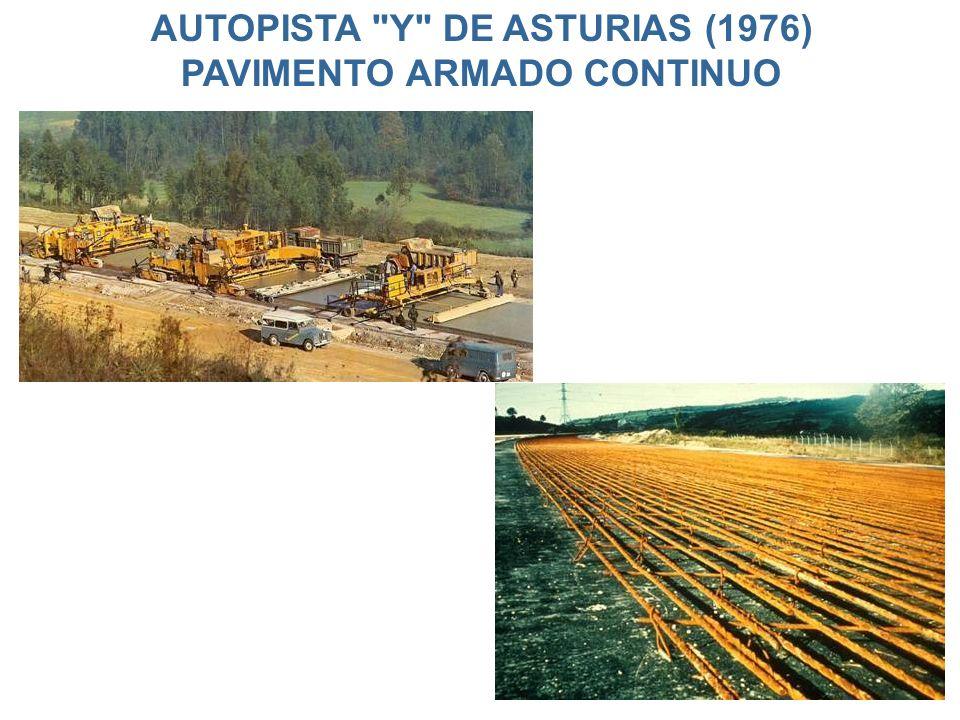 AUTOPISTA Y DE ASTURIAS (1976) PAVIMENTO ARMADO CONTINUO