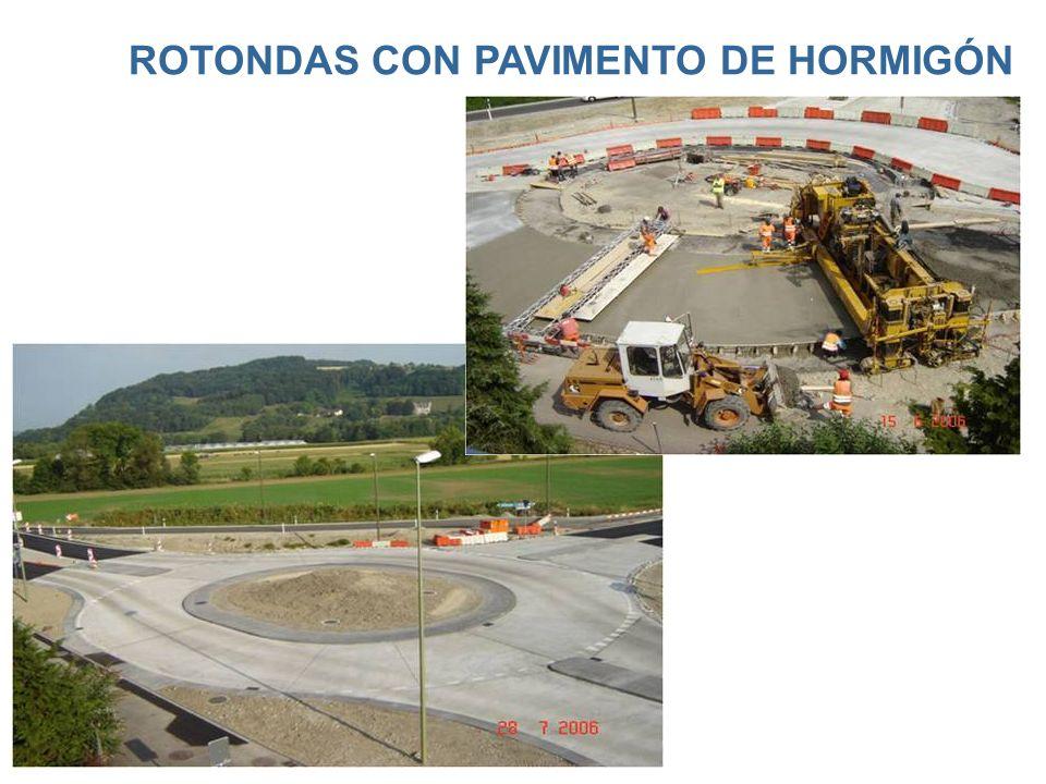 ROTONDAS CON PAVIMENTO DE HORMIGÓN