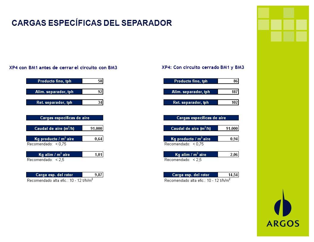 CARGAS ESPECÍFICAS DEL SEPARADOR