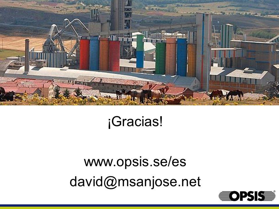 ¡Gracias! www.opsis.se/es david@msanjose.net
