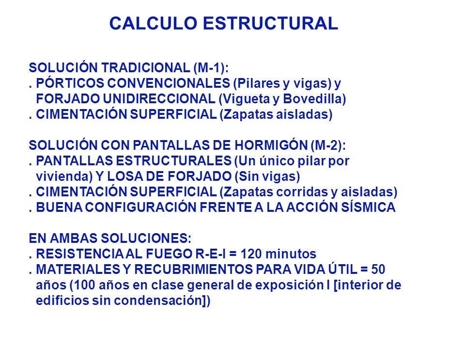 CALCULO ESTRUCTURAL SOLUCIÓN TRADICIONAL (M-1):