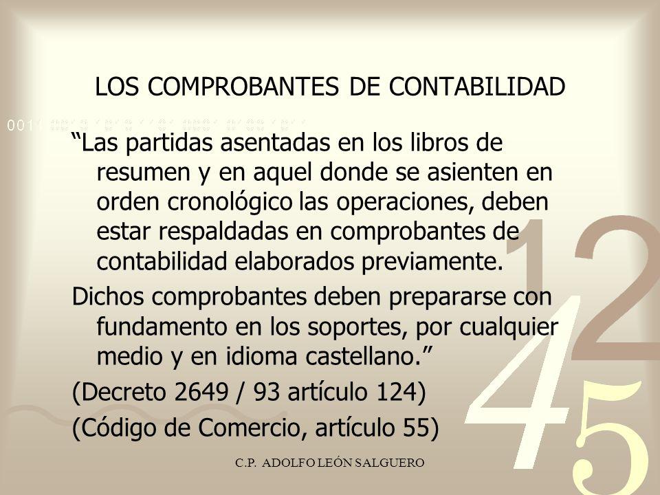 LOS COMPROBANTES DE CONTABILIDAD