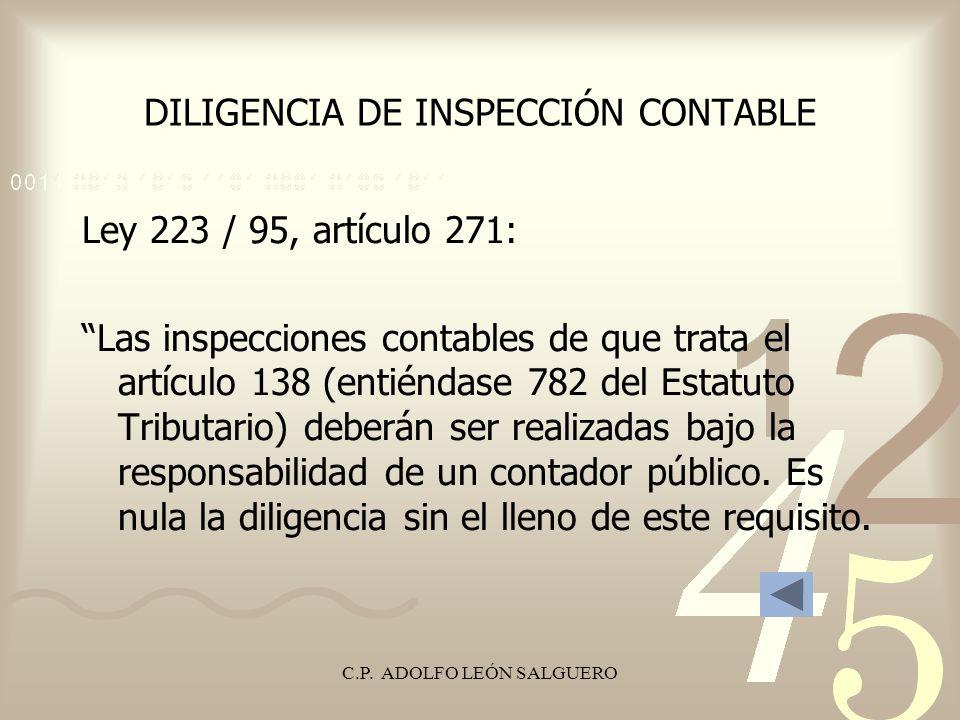 DILIGENCIA DE INSPECCIÓN CONTABLE