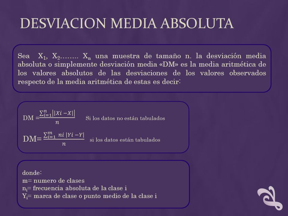 DESVIACION MEDIA ABSOLUTA