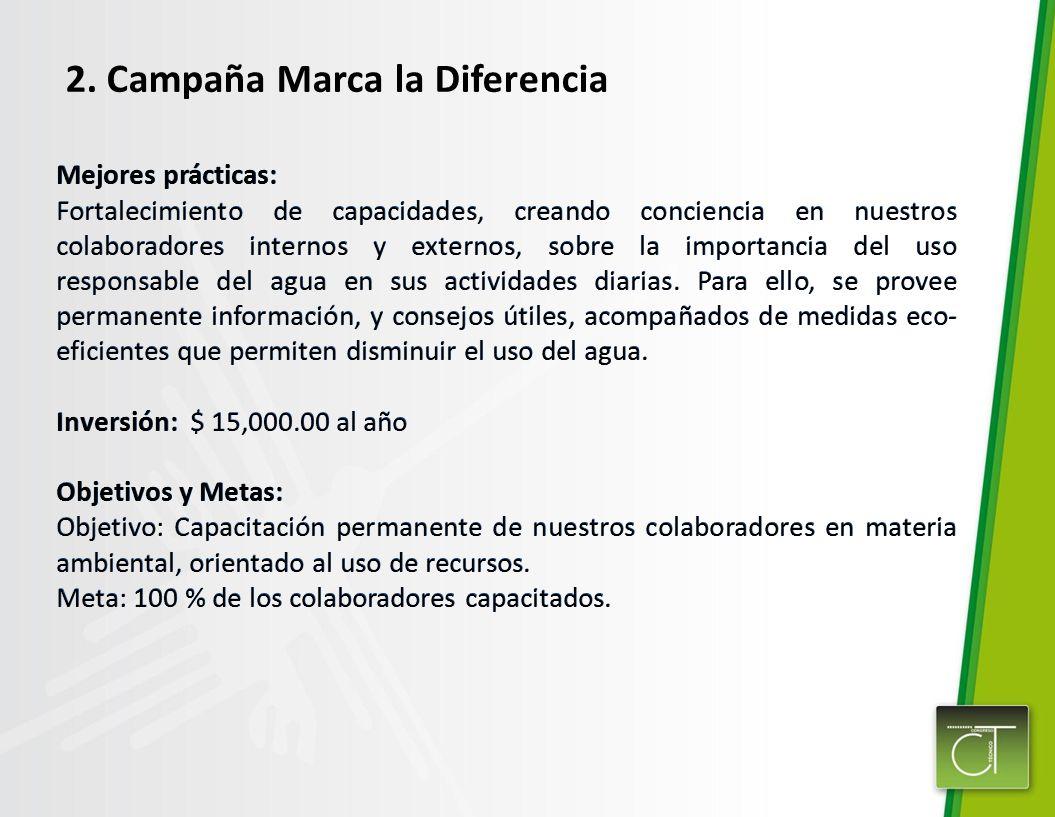 2. Campaña Marca la Diferencia