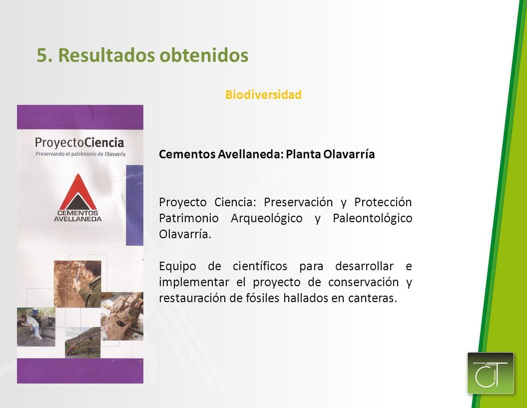 5. Resultados obtenidos Biodiversidad