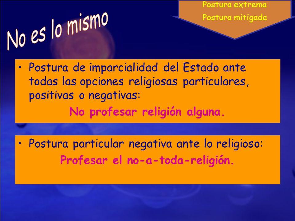 No profesar religión alguna. Profesar el no-a-toda-religión.