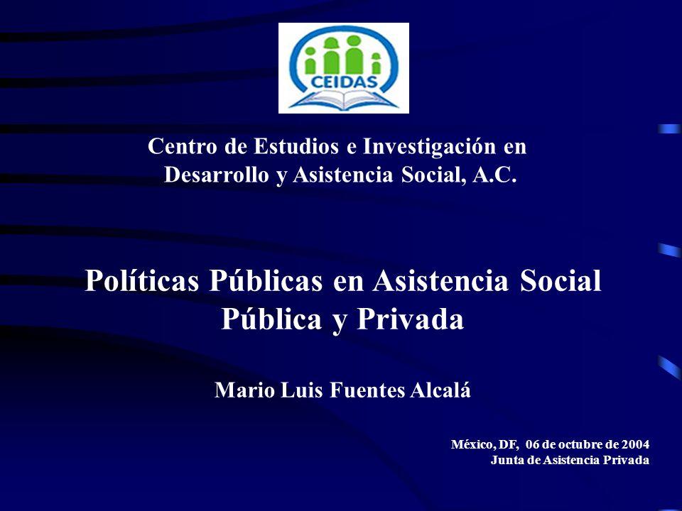 Políticas Públicas en Asistencia Social Pública y Privada