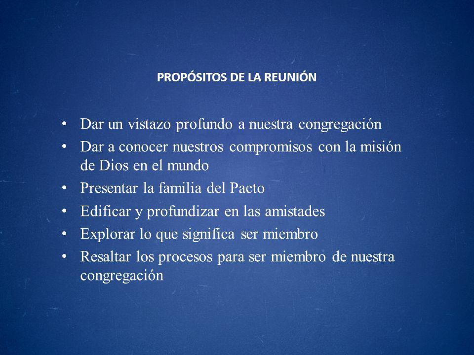 PROPÓSITOS DE LA REUNIÓN