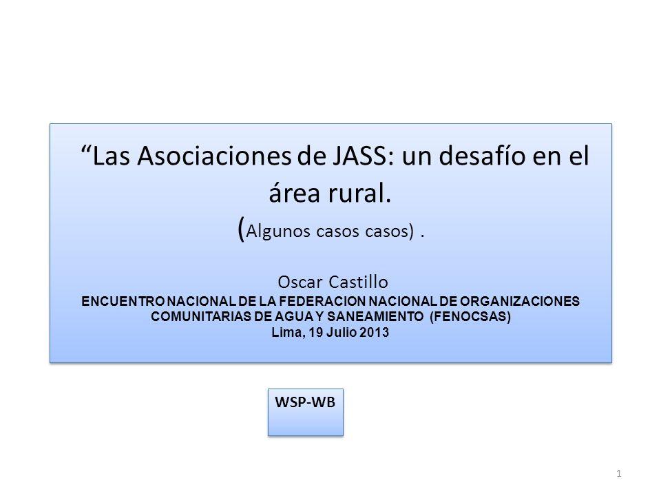 Las Asociaciones de JASS: un desafío en el área rural