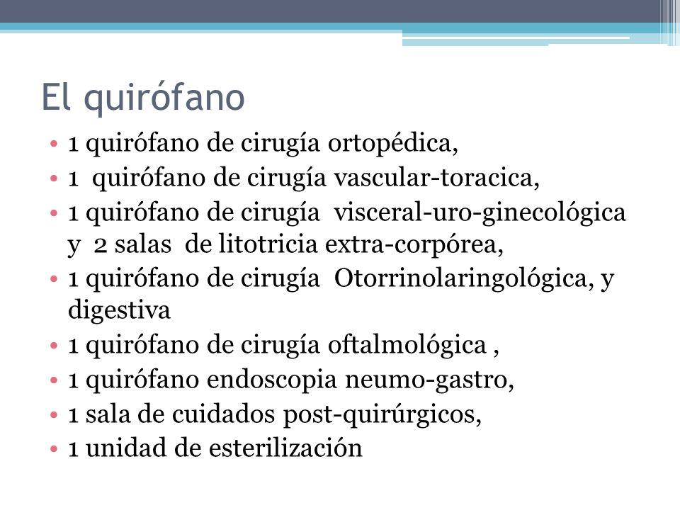 El quirófano 1 quirófano de cirugía ortopédica,