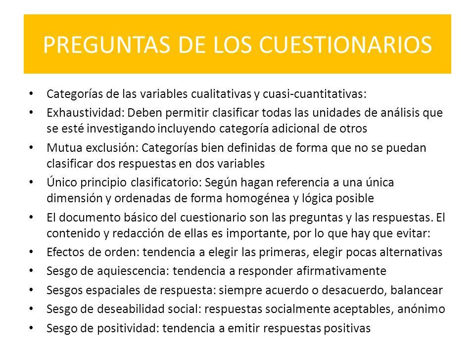 PREGUNTAS DE LOS CUESTIONARIOS