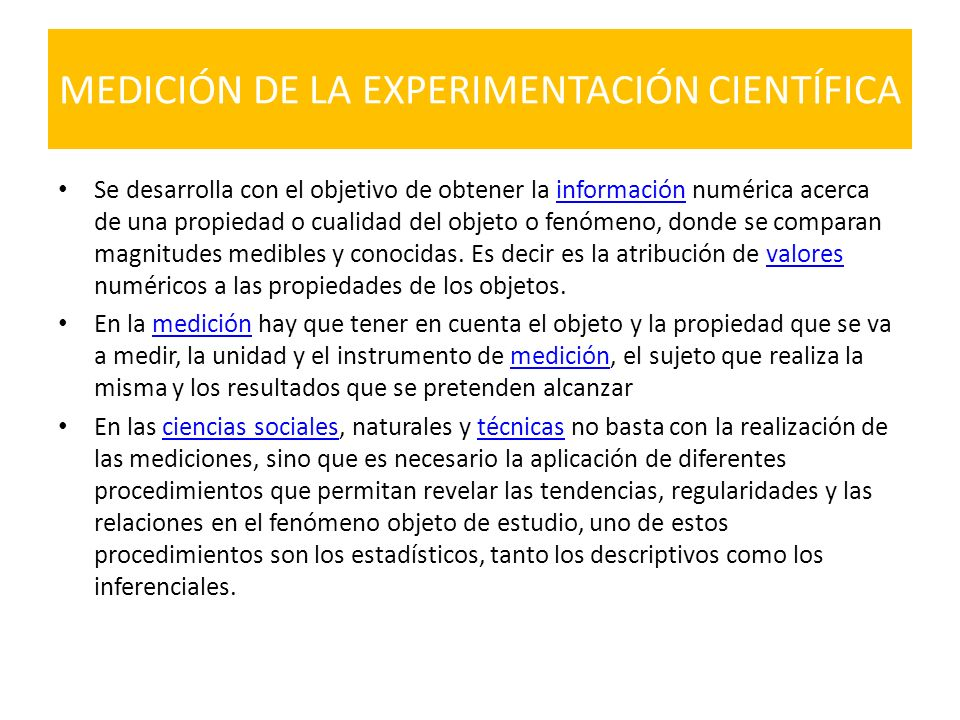 MEDICIÓN DE LA EXPERIMENTACIÓN CIENTÍFICA