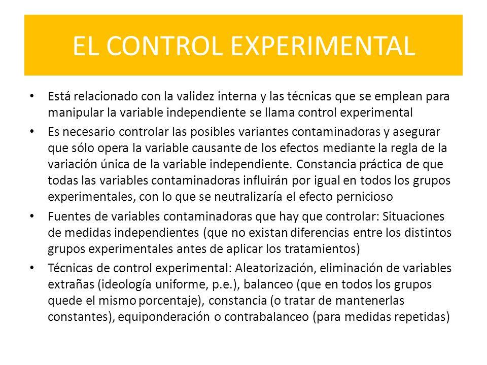 EL CONTROL EXPERIMENTAL