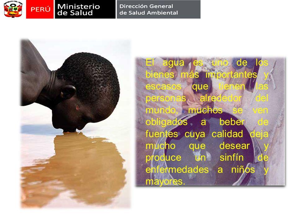 El agua es uno de los bienes más importantes y escasos que tienen las personas alrededor del mundo, muchos se ven obligados a beber de fuentes cuya calidad deja mucho que desear y produce un sinfín de enfermedades a niños y mayores.