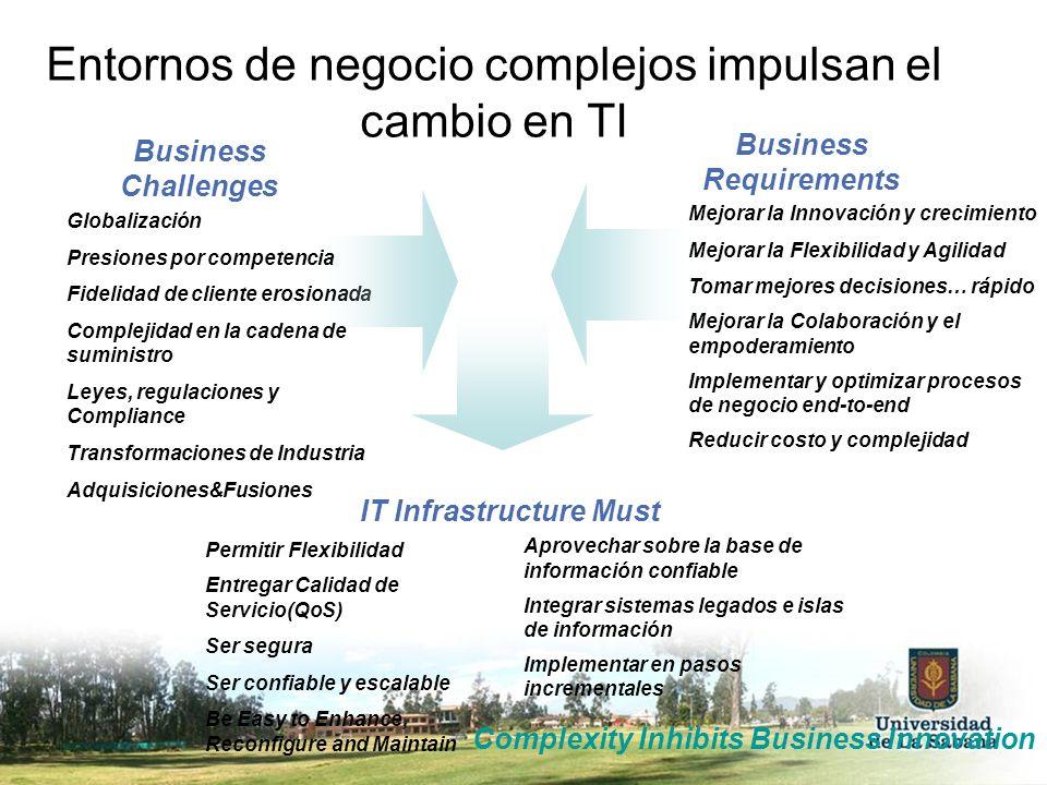 Entornos de negocio complejos impulsan el cambio en TI