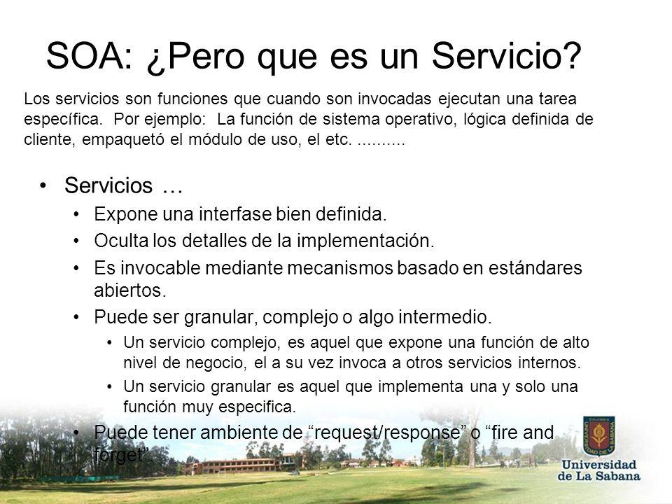 SOA: ¿Pero que es un Servicio