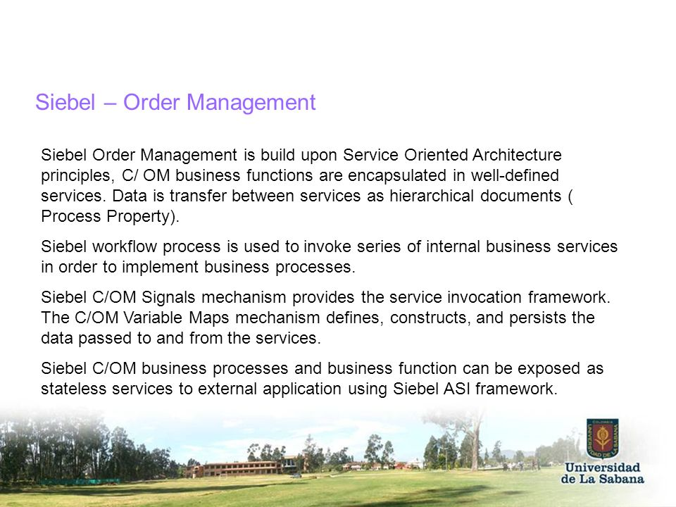 Siebel – Order Management