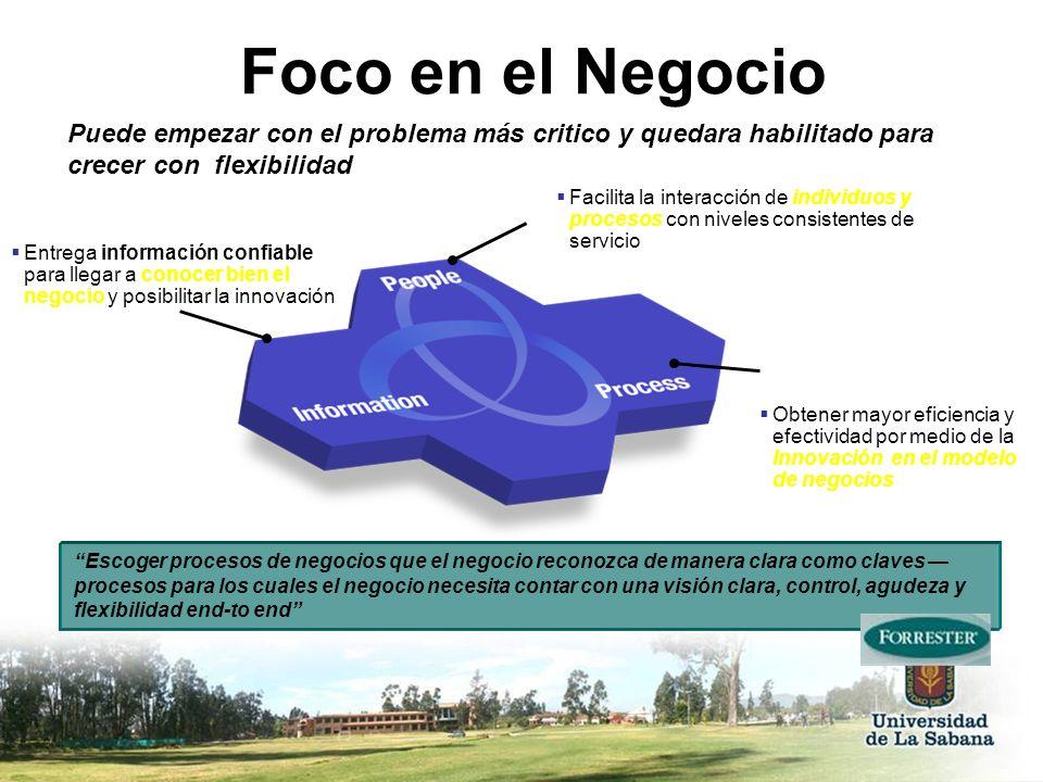 Foco en el NegocioPuede empezar con el problema más critico y quedara habilitado para crecer con flexibilidad.